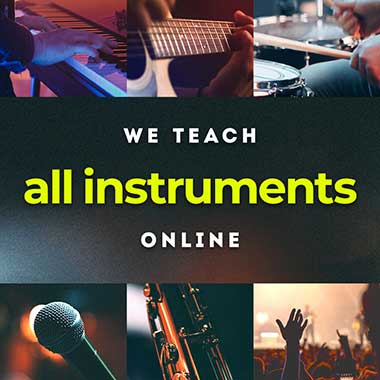 Online Music Lessons Grid Image